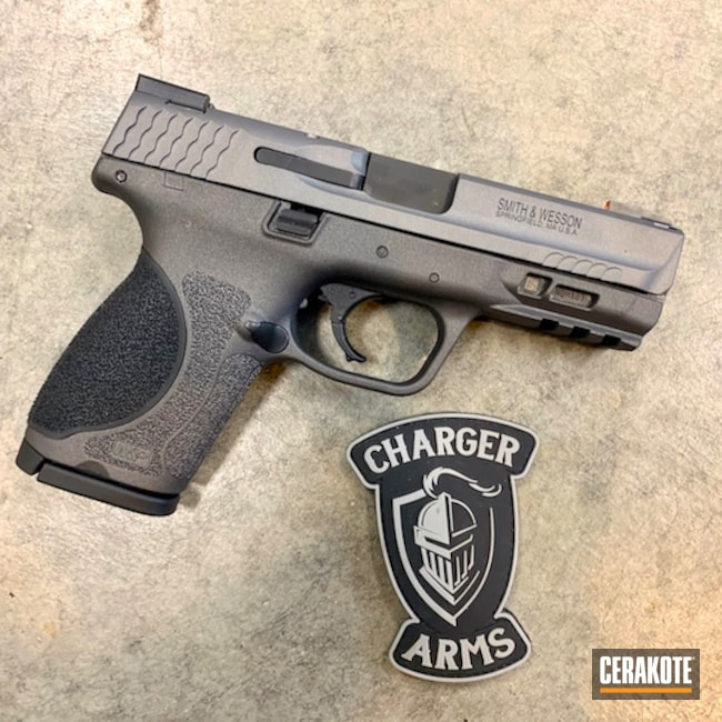 Cerakoted: S.H.O.T,Two Tone,Smith & Wesson,Pistol,M&P 2.0,Tactical Grey H-227,Cobalt H-112