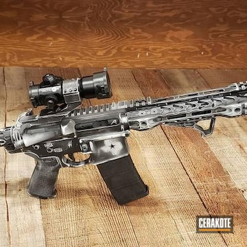 Cerakoted Aero Precision 300 Blackout Rifle In H-242 And H-190