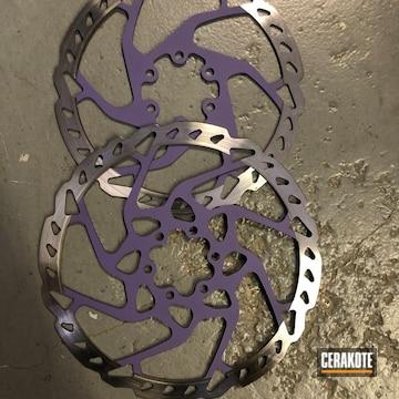 Cerakoted Purple Custom Motorcycle Rotors