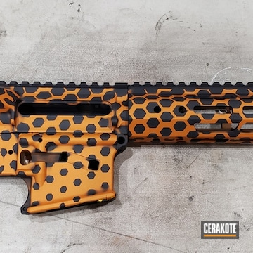 Cerakoted Custom Hex Pattern Ar In H-309 And H-234