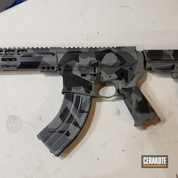 Cerakoted Custom Ar Splinter Camo In E-140 And E-100