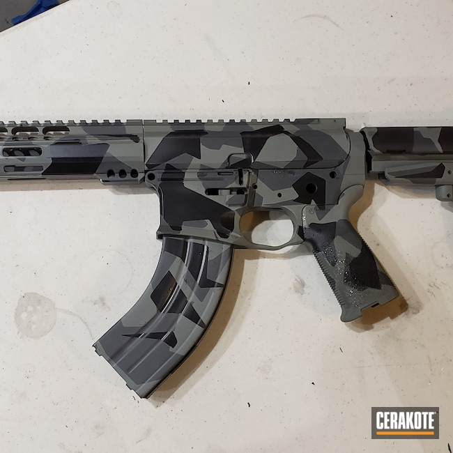 Cerakoted: S.H.O.T,Jungle E-140,BLACKOUT E-100,grantdefense,Tactical Rifle,Splinter Camo
