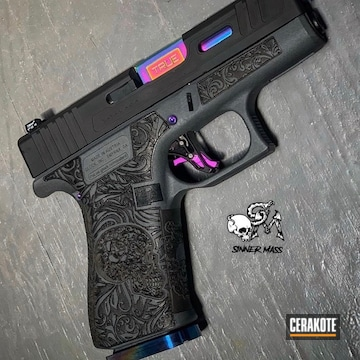 Cerakoted Laser Stippled Glock In H-234