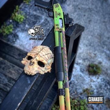 Cerakoted Mossberg 500 Zombie Themed Shotgun
