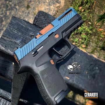 Cerakoted Sig Sauer Handgun In H-146 And H-185