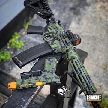 Cerakoted Custom Urban Camo Matching Ar And Handgun