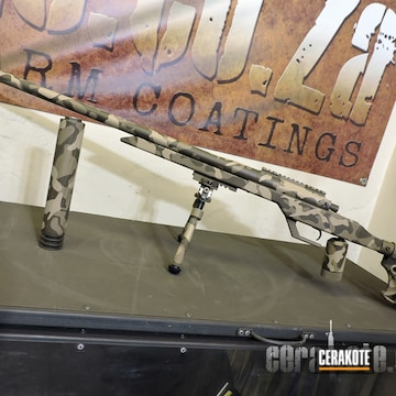 Cerakoted Multicam 6.5 Creedmoor Rifle In H-265, H-199 And H-226
