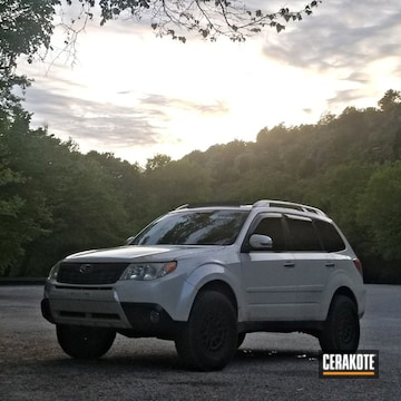 Cerakoted Grey Refinished Subaru Forester Grille