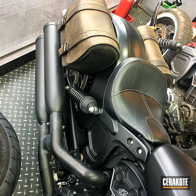 Cerakoted: Custom Exhaust,Indian,#custom,Exhaust,Motorcycles,More Than Guns,Automotive,Automotive Exhaust,CERAKOTE GLACIER BLACK C-7600,c7600