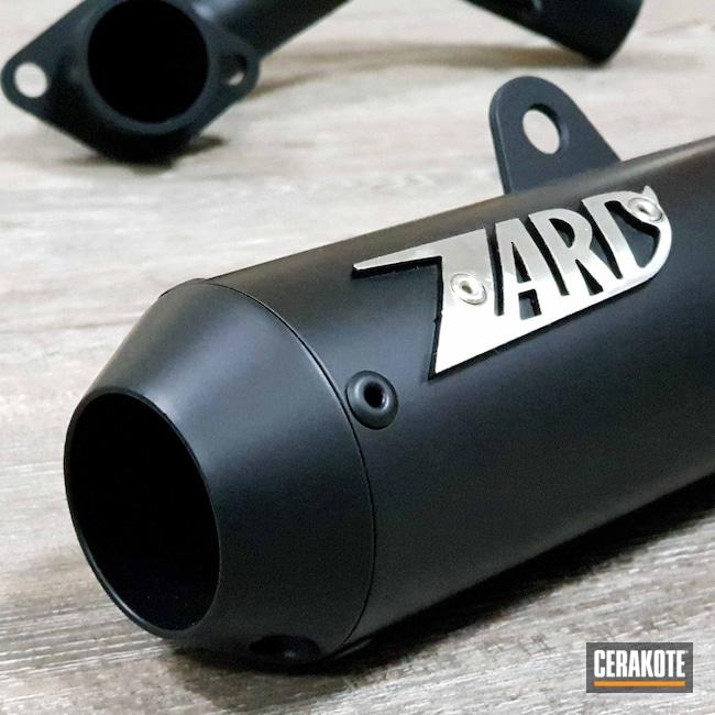 Cerakoted: Exhaust,Motorcycles,Automotive,Automotive Exhaust,CERAKOTE GLACIER BLACK C-7600,Zard,Motorcycle,c7600