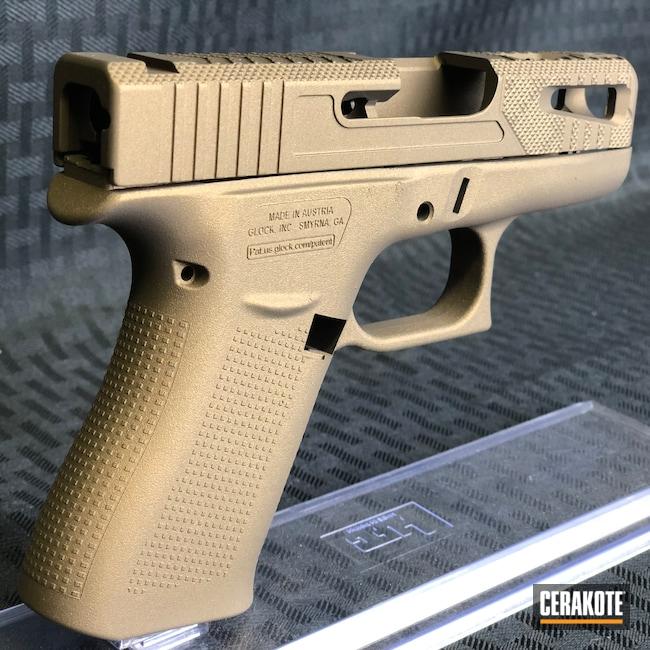 Cerakoted: S.H.O.T,Burnt Bronze H-148,Solid Tone,Pistol,Glock