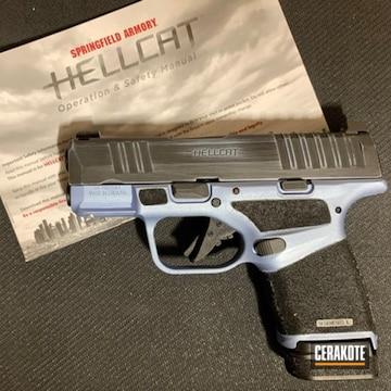 Cerakoted Springfield Hellcat Handgun In H-190 And H-326