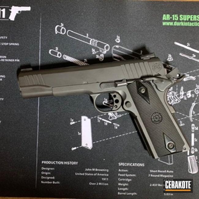 Cerakoted: S.H.O.T,9mm,Just Black,Battleworn,Blue,Armor Black H-190,Pistol,PT1911,Sword and Shield,1911,Taurus,POLAR BLUE H-326