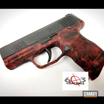 Cerakoted Custom Sig Sauer P365 In H-146 And H-216