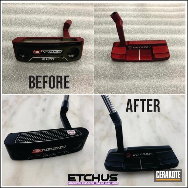 Cerakoted: Golf,Graphite Black H-146,Sports,Sports Equipment,More Than Guns,Golf Club Restoration,Odyssey,Sports and Fitness