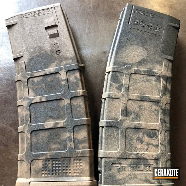 Cerakoted: S.H.O.T,Pmag,Skull,MAGPUL® FLAT DARK EARTH H-267,MAGs,Graphite Black H-146,Skull Camo,Tactical Rifle,.223