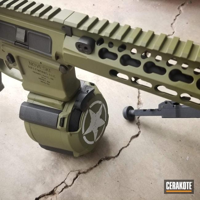 Cerakoted: S.H.O.T,AR,Tactical Rifle,Noveske,Noveske Bazooka Green H-189,BCM