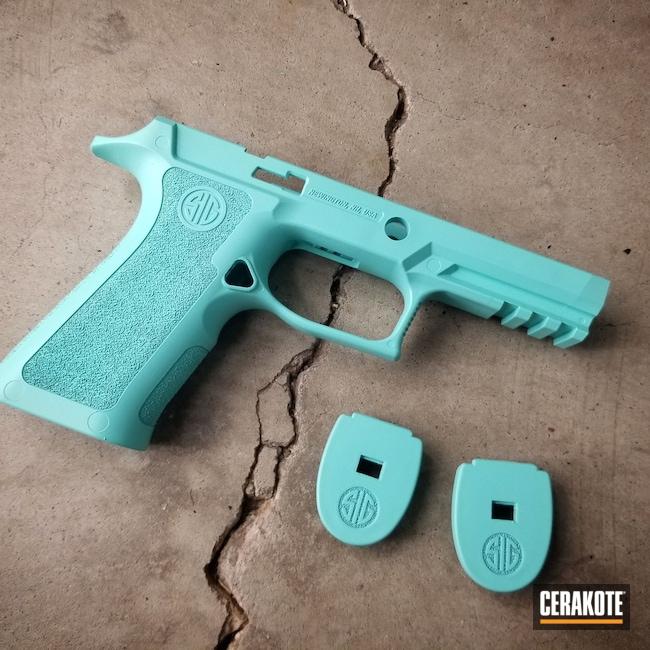 Cerakoted: S.H.O.T,Sig Sauer P320,Robin's Egg Blue H-175,P320,Sig Sauer,Pistol Frame