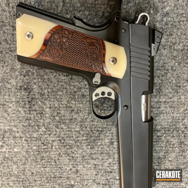 Cerakoted: S.H.O.T,.45,Graphite Black H-146,Pistol,1911