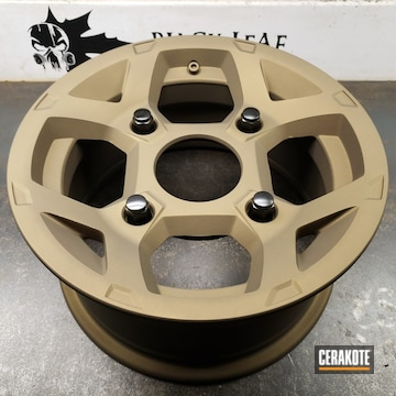 Cerakoted Bronze Refinished Polaris Utv Rims