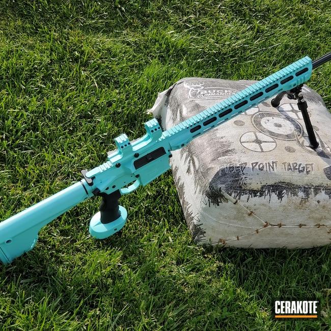 Cerakoted: S.H.O.T,Aero Precision,6.5 Creedmoor,Robin's Egg Blue H-175,Custom,Tactical Rifle