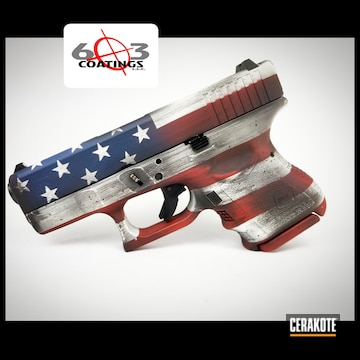 Cerakoted American Flag Glock In H-136, H-221, H-127 And H-190