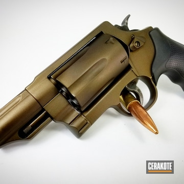 Cerakoted Bronze Smith & Wesson Revolver