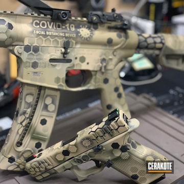 Cerakoted Matching Ar And Glock In H-235 And×covid-19