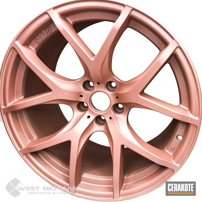 Cerakoted: Rims,More Than Guns,Automotive,Auto,ROSE GOLD H-327,Wheels