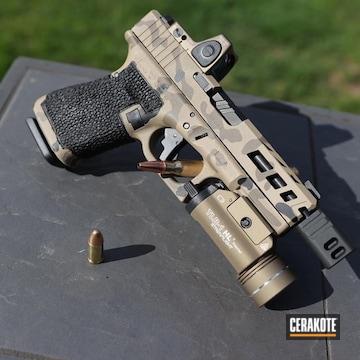 Cerakoted Custom Multicam Glock In H-146, H-199 And H-261