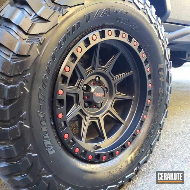 Cerakoted American Racing Rims In H-109 And H-306