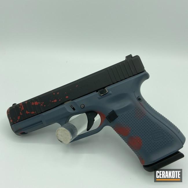 Cerakoted: S.H.O.T,Glock 19,Graphite Black H-146,Blood,Pistol,Glock,SMITH & WESSON® RED H-216,MULTICAM® DARK GREY H-345