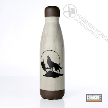 Cerakoted Custom Water Bottle In H-267, H-143 And H-298