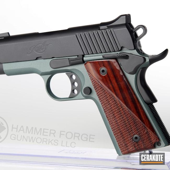 Cerakoted: S.H.O.T,Kimber 1911,Graphite Black H-146,Kimber,Pistol,CHARCOAL GREEN H-338,Handguns,Kimber Ultra Carry II