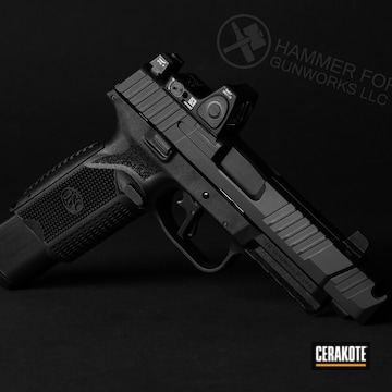 Cerakoted Fn 509 Handgun In H-146