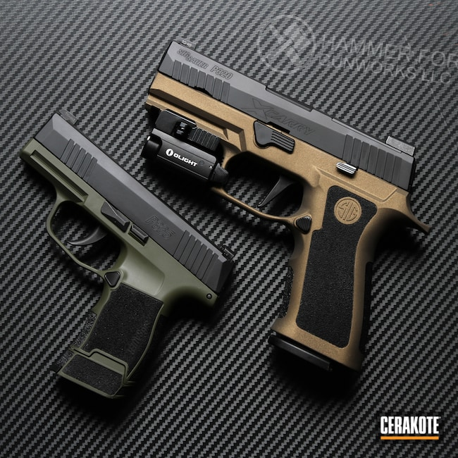 Cerakoted: S.H.O.T,Sig Sauer P320,P320,Burnt Bronze H-148,Pistol,Sig Sauer,Handguns