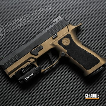 Cerakoted Two Tone Sig P320 Handgun In H-148