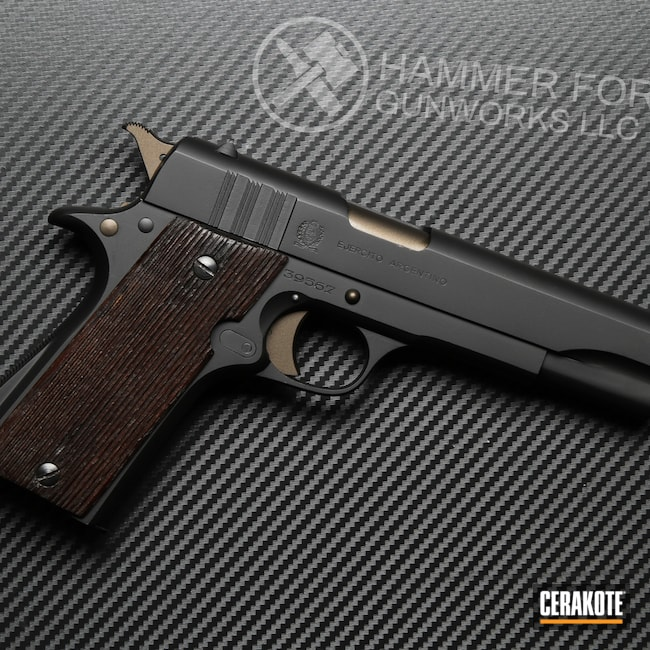 Cerakoted: S.H.O.T,9mm,Graphite Black H-146,Pistol,1911,Handguns