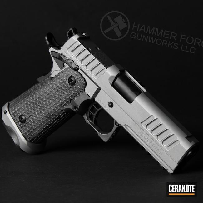 Cerakoted: S.H.O.T,Custom Mix,Cerakote Elite Series,Elite Tungsten,STI,Pistol,Satin Aluminum H-151,Smoke E-120,2011,Elite Titanium,Concrete E-160,STI Staccato P