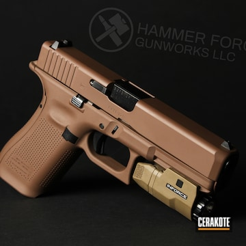 Cerakoted Glock 17 In A Custom Mixed Finish