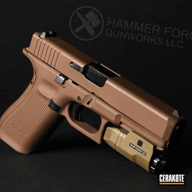 Cerakoted: S.H.O.T,Custom Mix,Glock 17 Gen 5,MAGPUL® FLAT DARK EARTH H-267,Pistol,Glock,MULTICAM® DARK BROWN H-342,Glock 17,Handguns