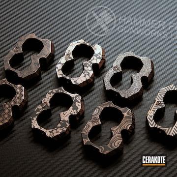 Cerakoted Laser Engraved Knucks In H-146