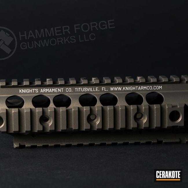 Cerakoted: S.H.O.T,Rail,Handguard,Burnt Bronze H-148,Knight's Armament,Laser Engrave