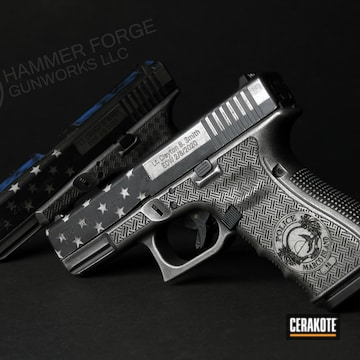 Cerakoted Thin Blue Line Glock 23 Memorial Tribute