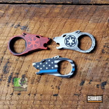 Cerakoted Wolf Bottle Openers In H-146 And H-216
