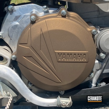 Cerakoted 2018 Yz450f Motorcycle Clutch Cover In H-148
