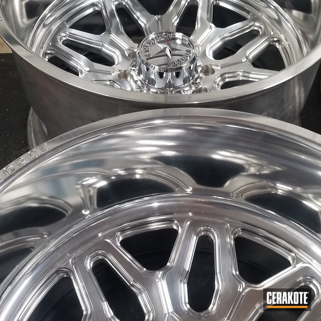 "Cerakoted: Aluminum Wheels,Clear,Sealer,24"" Wheels,Custom Wheel,Cerakote Clear - Aluminum MC-5100,More Than Guns,Automotive,Polished"
