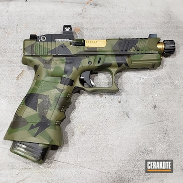 Cerakoted Splinter Camo Glock 19
