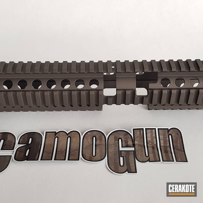 Cerakoted: S.H.O.T,Graphite Black H-146,Handguard,Midnight Bronze H-294