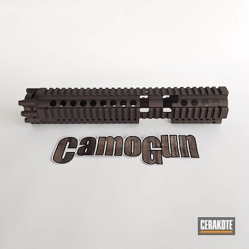 Cerakoted Handguard In A Custom Mix H-146 And H-294